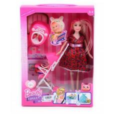 Бременна кукла с количка и 2 деца