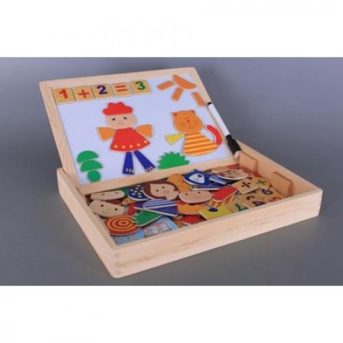 Дървена дъска с магнити-двулицева