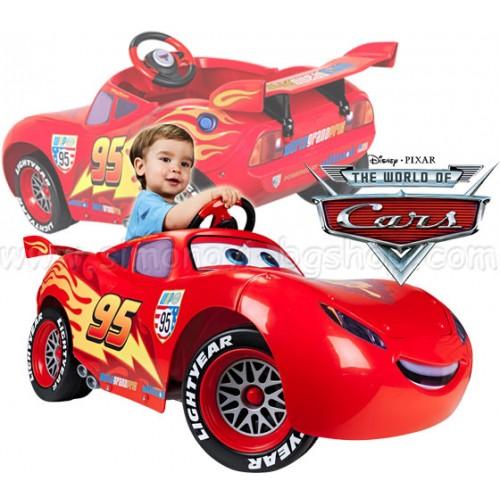 Акумулаторна кола Светкавица MCQueen Feber Disney Cars Маккуин 6V детска количка Колите