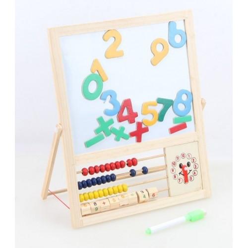 Дървена дъска с цифри и сметало